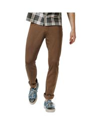 DU/ER Brown No Sweat Relaxed Fit Pant for men