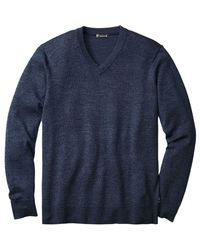 Smartwool - Blue Kiva Ridge V-neck Sweater for Men - Lyst