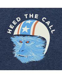 Howler Brothers Blue Stunt Monkey T-shirt for men