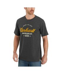 Carhartt Gray Tk181 Relaxed Fit Graphic T-shirt for men