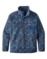 Patagonia Blue Synchilla Snap-t Fleece Pullover for men
