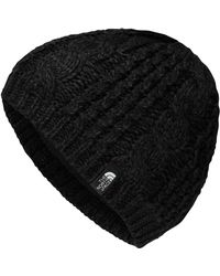The North Face - Black Cable Minna Beanie - Lyst