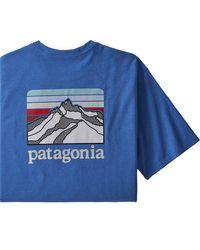 Patagonia Blue Line Logo Ridge Pocket Responsibili-t-shirt for men