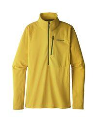 Patagonia Yellow R1 Fleece 1/2-zip Pullover for men