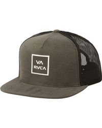 0544aebc1ae Lyst - RVCA Va All The Way Iii Trucker Hat in Green for Men