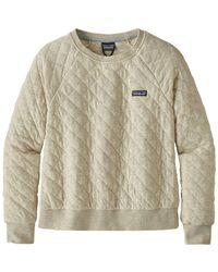 Patagonia - Natural Organic Cotton Quilt Crew Sweatshirt - Lyst
