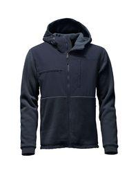 The North Face - Blue Denali 2 Hooded Fleece Jacket for Men - Lyst