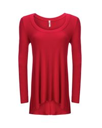 Free People - Red January Shirt - Lyst