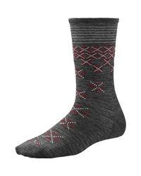 Smartwool Gray Shimmering Snow Crew Socks for men
