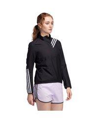 Adidas Black Run It 3-stripe Anorak