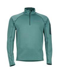 Marmot Green Stretch 1/2-zip Fleece Jacket for men