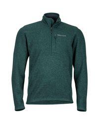 Marmot Green Drop Line 1/2-zip Fleece Jacket for men