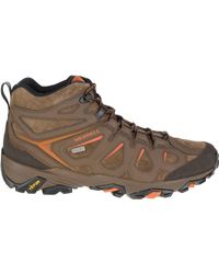 Merrell - Brown Moab Fst Leather Mid Waterproof Hiking Boot for Men - Lyst