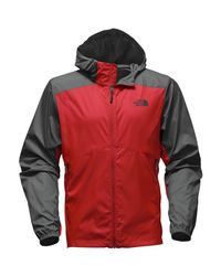 The North Face Red Flyweight Hooded Jacket for men