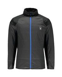 Spyder Black Glissade Insulated Jacket for men