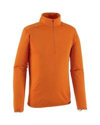 Patagonia Orange Capilene Midweight Zip-neck Top for men