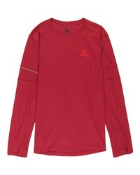 Salomon Red Agile Long-sleeve T-shirt for men