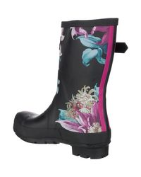 Joules Black Molly Welly Boot