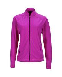 Marmot Purple Rocklin Fleece Jacket - 1/2-zip