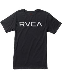 RVCA Black Big Short Sleeve T-shirt for men