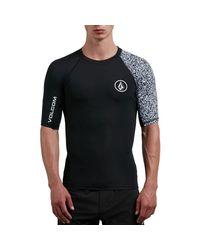 Volcom - Black Lido Block Short-sleeve Rashguard for Men - Lyst