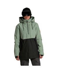 Volcom Green Fern Insulated Gore Pullover Jacket