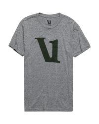 vuori Gray V1 Logo T-shirt for men