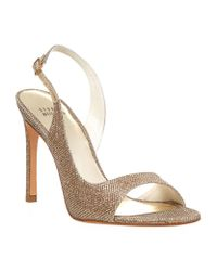 Stuart Weitzman Metallic Reckless Glitter Sandal