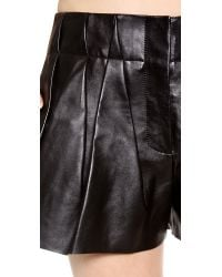 Alexander Wang Black Leather Bloomer Shorts