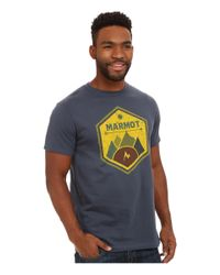 Marmot | Blue Badge Tee Ss for Men | Lyst