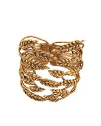 Aurelie Bidermann - Metallic Wheat Cuff - Lyst