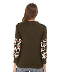 Marc By Marc Jacobs - Green Military Leopard Long Sweater - Lyst