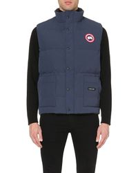 Canada Goose | Blue Freestle Quilted Shell Gilet - For Men for Men | Lyst