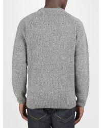 Carhartt Gray Anglistic Wool Jumper for men