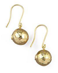 Ippolita   Yellow Hammered Ball Earrings   Lyst