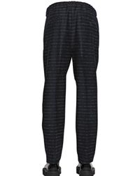 Andrea Pompilio Blue 19Cm Striped Wool Flannel Trousers for men