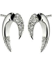 Shaun Leane | Black Signature 18ct White-gold And Diamond Talon Earrings | Lyst