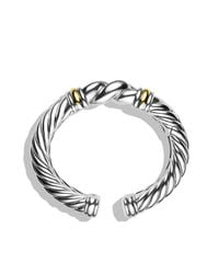David Yurman - Metallic Metro Cuff With Gold - Lyst