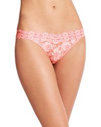 Hanky Panky | Pink Cross-dye Original Rise Lace Thong | Lyst