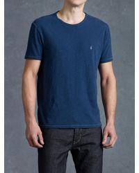 John Varvatos | Blue Short Sleeve Peace Crewneck for Men | Lyst