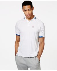 Tommy Hilfiger | White Lee Texture-stripe Polo for Men | Lyst