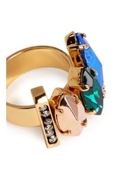 Iosselliani - Metallic Stone And Crystal Ring - Lyst