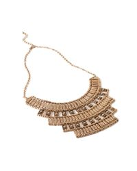 Forever 21 | Metallic Tiered -inspired Necklace | Lyst