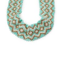 Forever 21 - Green Bold And Boho Beaded Necklace - Lyst