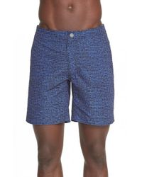 Onia | Blue 'calder' Ratti Print Swim Trunks for Men | Lyst