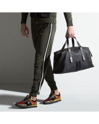 Bally Gray Boskar Men ́s Leather Weekender In Charcoal for men