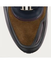 Bally Blue Ascar Men ́s Leather Trainer In Ink Multi for men