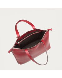 Bally Ssime Extra Small Women's Extra Small Leather Tote Bag In Red