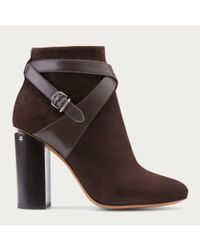 Bally | Brown Caphie Women ́s Suede Ankle Boot In Testa Di Moro | Lyst