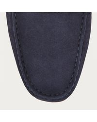 Bally Pearce Men ́s Suede Driver In Blue Navy for men
